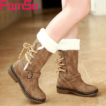 Free shipping 2017 New Shoes Women Boots  Designer Ladies Winter outdoor keep Warm Fur Boots Waterproof Women's Snow Boots