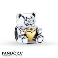 Pandora Charm Bear My Heart Sterling Silver/14K Gold
