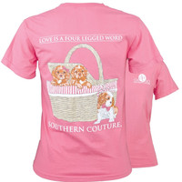 Southern Couture Preppy Puppy Love Comfort Colors T-Shirt