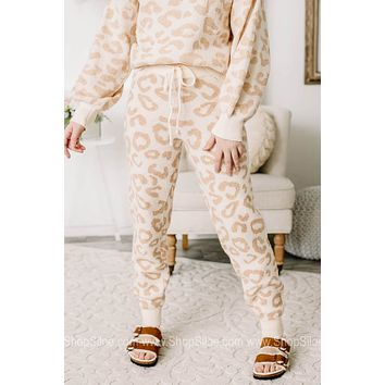 Cozied Up Neutral Cheetah Printed Joggers