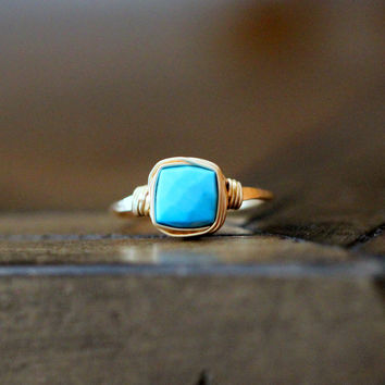 Turquoise Cocktail Ring