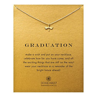 """Dogeared Graduation Dragonfly 16"""" Boxed Necklace (gold-plated-silver)"""