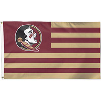 "Florida State University 3""x5"" Patriotic Flag"