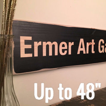 """Custom Wood Sign, Your Own Message, Up to 48"""" Long"""