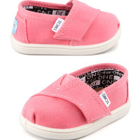 Classic Canvas Slip-On, Pink, Tiny - TOMS