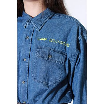 Camp Denim Button Down / L