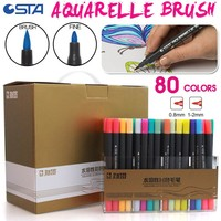 STA 80 Colors Water Based Ink Marker Pen Design Paint Sketch Manga Markers for Art Supplies