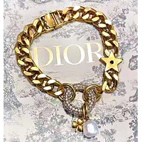 DIOR Fashion New Star Pearl Diamond Personality Necklace Bracelet Women