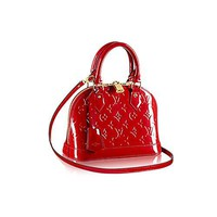 Louis Vuitton Monogram Vernis Leather ALMA BB Cross-Body Carry Handbag Article: M90174 Cherry