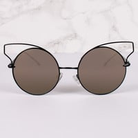 Cat Eye Circle Lens Butterfly Sunnies