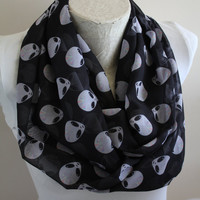 Alien Head Scarf Ufo Infinity Scarf Fall Autumn Winter Scarf Accessories Birthday Gift Christmas Gift For Her