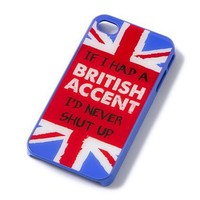 British Accent iPhone Cover  | Claire's