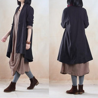 Linen jacket linen coat windbreaker coat autumn coat