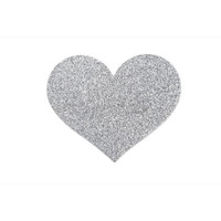 Bijoux Indiscrets Flash Heart Nipple Covers Silver