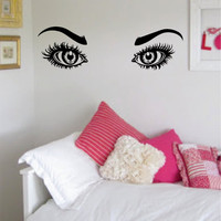 Girls Eyes and Eyebrows Version 1 Beautiful Design Decal Sticker Wall Vinyl Decor Art