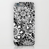 Black and White Mandala Pattern iPhone & iPod Case by Julie Erin Designs | Society6