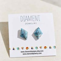 Diament Jewelry X Urban Renewal Large Turquoise Diamond Stud Earring- Turquoise One