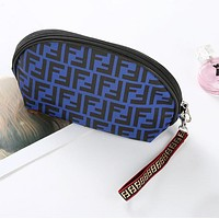 FENDI Hot Sale Women Makeup Bag Cosmetic Bag Zipper Purse Wallet Handbag Blue