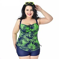 New Large size swimsuit for big women Sexy Summer clothing Plus Size swimwears Smooth fabric two-piece Suits Swimming suit
