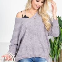 Moonlit Chenille Grey Sweater