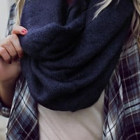 Forever Darling Infinity Scarf - Navy