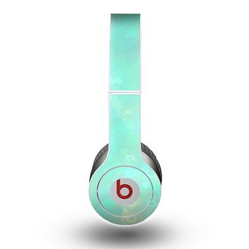 The Bright Teal WaterColor Panel Skin for the Beats by Dre Original Solo-Solo HD Headphones