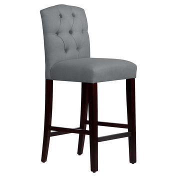 Leo Tufted Stool, Gray, Bar & Counter Stools
