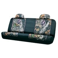 Browning Arms Company Buckmark Pink Logo Infinity Camo Car Truck SUV Universal-fit Rear Bench Seat Cover with Head Rest Covers
