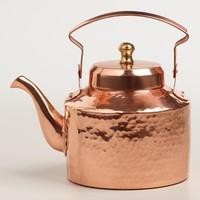 Hammered Copper Teakettle