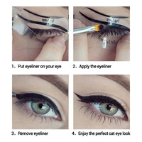 1Pcs/Set Cat Eye Fish Tail Double Wing Eyeliner Stencil Eyeliner Stencil Models Template Shaper Makeup Eye Tools