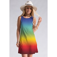 Shades of Sherbert Dress - Rainbow