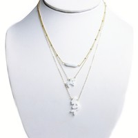 Opal Gold Cut Aloha Bling Necklaces