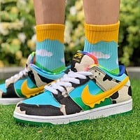 Nike SB Dunk Low low-top air jordan 1 aj1 colorblock canvas sneakers shoes