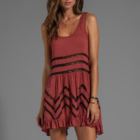 Free People Slip Voile Trapeze Dress in Copper Combo from REVOLVEclothing.com