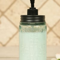 Mason Jar Soap Dispenser Black Pump