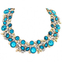 Crystal Faux Stone Choker Necklace