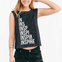 Deter Inspired Repeat Muscle Tee- Charcoal