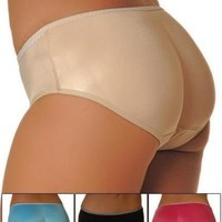 Low Rise Padded Panty Butt Booster Booty Enhancer Size Medium Color Nude Beige