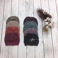Multi-colored beanie (Hot Pink)
