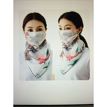1 Fits All - PinkW - Face Mask Scarf