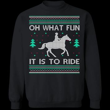 What Fun It Is To Ride Ugly Christmas Sweater