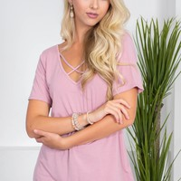 Dusty Pink Bamboo Top