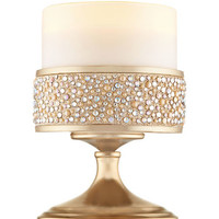 Short Champagne Pearl Gem Pedestal 3-Wick Candle Sleeve | Bath And Body Works