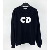 Dior autumn and winter new CD letter round neck sweater men and women the same style hoodie