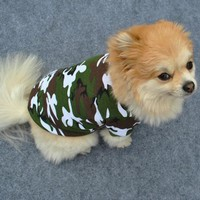 2016 Pet Dog Cat Outdoor Camo Clothes Hoody Coat Apparel Puppy Doggy Camouflage T-shirt XS-L a2