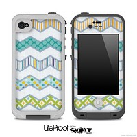 Vintage Various Patterns Chevron Skin for the iPhone 5 or 4/4s LifeProof Case