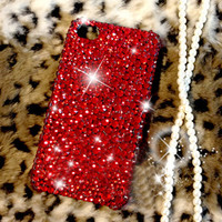 Bling iPhone case - iPhone 4 case - iPhone 4s Case - Red Diamond iPhone case Unique iphone case iphone cover iphone 4 cover