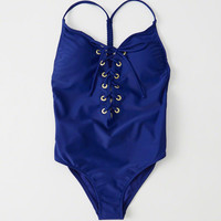 Womens Lace-Up Front One Piece | Womens Swimwear | Abercrombie.com