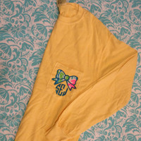 Lilly Pulitzer Bow Monogrammed Long Sleeve Pocket Tee