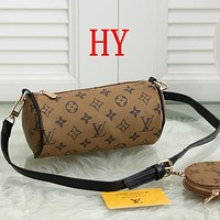 Louis Vuitton Fashion Leather Crossbody Satchel Set Two Piece